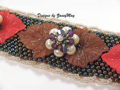 Odd Count Peyote Stitch Bracelet Beading Tutorial in by zaneymay, $7.00