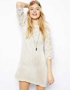 See what a gorgeous style I found! ASOS ASOS Crochet Lace Dress In Knit