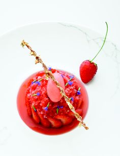 From its grandiose setting to tremendously thoughtful dishes like Eric Briffard's Strawberry Shortcake (pictured here) a trip to two-Michelin-star Le Cinq is an artistic experience, through and through.