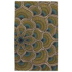 """Area rug """"Peacock plume"""" from Pier1"""