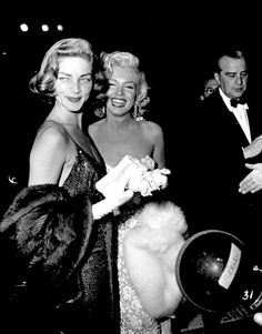 """""Lauren Bacall and Marilyn attent the premiere of How To Marry A Millionaire on 4th November 1953. "" """