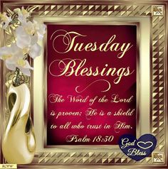 Tuesday Blessings, Psalm 18:30