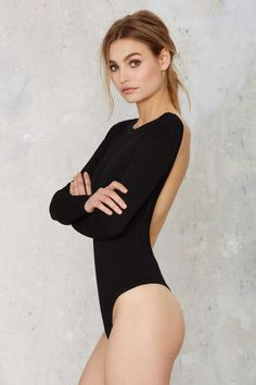 Nasty Gal Scouted Open Back Bodysuit - Clothes | Best Sellers | Bustiers…