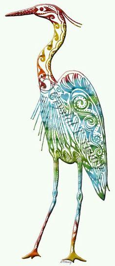 Tribal heron tat?