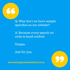Adelaide Wedding Speeches: Our wedding speeches are unique and written just f...