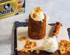Carrot Cake Bunny Chow with Cream Cheese Ice Cream - Stork Baking Tips, Baking Recipes, Cake Recipes, Malva Pudding, Peppermint Crisp, Waffle Cake, Custard Filling, Peanut Brittle, Butter Recipe