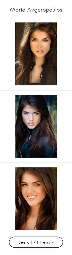 """""""Marie Avgeropoulos"""" by heisenberg44 ❤ liked on Polyvore featuring people, celebs, girls, hair, female models, pictures, marie avgeropoulos, models, brunettes and site models"""
