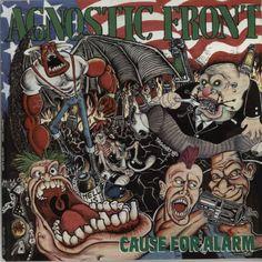 Agnostic Front, Cause For Alarm - Test Pressing, UK, Deleted, vinyl LP album (LP record), Rough Justice, JUST3, 600724