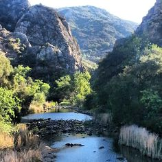 Malibu Creek State Park - Just 25 miles from downtown Los Angeles, the park has over 4,000 acres, featuring hiking, fishing, bird watching and horseback riding opportunities. http://www.reserveamerica.com/camping/malibu-creek-sp/r/campgroundDetails.do?contractCode=CA&parkId=120051