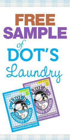 Free Sample of Dot's Laundry #dots #freesample #laundry