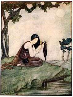 Art by Rie Cramer (1922) from GRIMM'S FAIRY TALES.