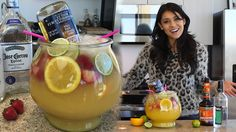 Subscribe to Tipsy Bartender: http://bit.ly/1krKA4R A tasty margarita loaded with tequila, coconut rum and fresh fruits served in a giant fish bowl...THE TRO...