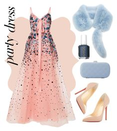 """""""#PolyPresents: Party Dresses"""" by ania-personal-stylist on Polyvore featuring Elie Saab, Christian Louboutin, La Sera, Essie, contestentry and polyPresents"""