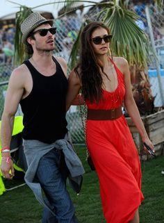 Ian Somerhalder and Nina Dobrev, possibly the prettiest couple ever