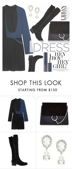 """""""One Trend: Two-Tone Dresses"""" by aislinnhamilton1993 ❤ liked on Polyvore featuring Atlein, Chloé, Steve Madden, Dolce&Gabbana, Estée Lauder, polyvoreeditorial, polyvorecontest and twotonedress"""
