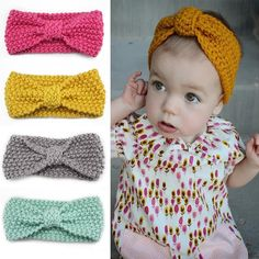 Cheap hair bow accessories, Buy Quality bow accessories directly from China knot headband Suppliers: Knot Headband Bebe Girl Winter Crochet Newborn Head wrap Warmer Knitted Bow Hairband Hair Band Hair Bow Accessories 10 colors Bandeau Crochet, Crochet Headband Free, Newborn Crochet, Crochet Baby Hats, Cute Crochet, Crochet For Kids, Baby Knitting, Knit Crochet, Baby Hat Knitting Patterns Free