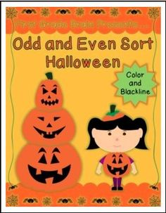 """FREE MATH LESSON - """"Odd and Even Sort (Numbers to 30) Halloween/Pumpkin Theme FREE!"""" - Go to The Best of Teacher Entrepreneurs for this and hundreds of free lessons. Kindergarten - 2nd Grade #FreeLesson #Math #Halloween  http://www.thebestofteacherentrepreneurs.net/2015/09/free-math-lesson-odd-and-even-sort.html"""