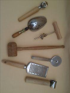 Vintage Rustic Wood Handle Kitchen Tools ~ Bottle Opener ~ Odd Tool ~ Doughu2026