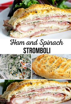 Ham and Spinach Stro