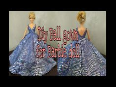 Sewing Barbie Clothes, Barbie Sewing Patterns, Doll Clothes Patterns, Clothing Patterns, Diy Clothes, Barbie Gowns, Barbie Dress, Barbie Doll, Barbie Accessories