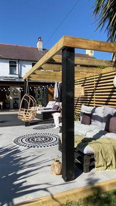 Small Backyard Design, Back Garden Design, Small Backyard Landscaping, Backyard Patio Designs, Backyard Ideas, Patio Ideas, Porch Ideas, Landscaping Ideas, Diy Patio