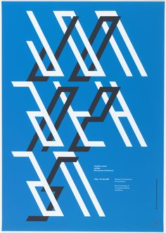 Poster #design for Sherman Contemporary Art (Australia) by Mark Gowing, 2008. #typography #howposterswork