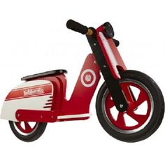 Kiddimoto Scooter Red White