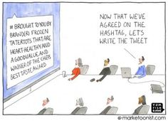 Hilarious #hashtag cartoon by TomFishburne.com