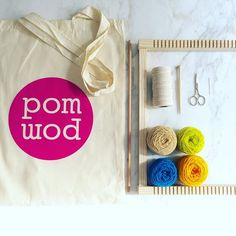 pompom weaving workshop kit