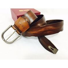 Saddle Brown Designer belt