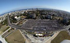 Vista de benedicto XVI a Cuba. Vista Panorámica de la Plaza de la Revolución.