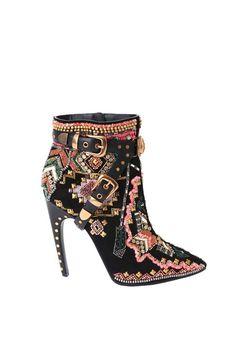 Emilio Pucci RTW Fall 2014 [Photo by Delphine Achard] Fab Shoes, Unique Shoes, Crazy Shoes, Me Too Shoes, Shoes Heels, Pumps, Bootie Boots, Ankle Boots, Mode Shoes
