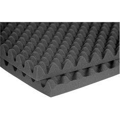 "Auralex 2"" Sonomatt-48 4'x8' Soundproofing Studio Foam - 2 Panels of CHARCOAL | Reverb"