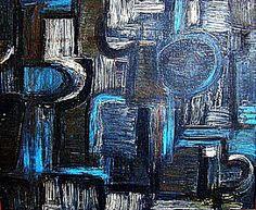 """Iberê Camargo- """"Série Carretéis"""" , óleo sobre tela, Dimensão 60 Cm X 72 Cm, década de 50, as"""