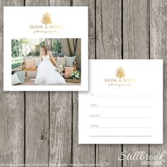 Photography Gift Certificate Template - Gift Card Template for Photographers - Flyer Voucher Card - Photoshop Marketing Design - GC08