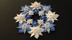 Origami Wreath, Origami Stars, Hanukkah, Wreaths, Youtube, Decor, Mandalas, Decoration, Door Wreaths
