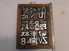 Full Alphabet of Letterpress Metal TYPE