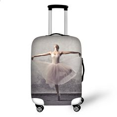Elastic Travel Luggage Cover Love Peace Doves Suitcase Protector for 18-20 Inch Luggage