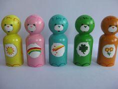 Loveable bears peg doll set. $25.00, via Etsy.