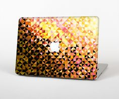 """The Golden Abstract Tiled Skin Set for the Apple MacBook Pro 15"""" with Retina Display from Design Skinz"""