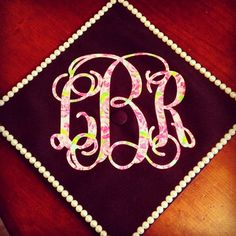 cute & crafty ~ use a lilly monogram to decorate your grad cap! ♥