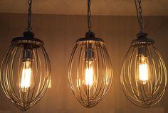 Kitchen Light Whisk Light Industrial Lighting Bakery Lighting, Cool Lighting, Industrial Lighting, Ceiling Rose, Living Room Transformation, Kitchen Pendant Lighting, Hanging Pendant Lamp, Kitchen Lighting, Vintage Lighting