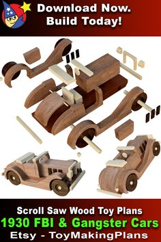 Wooden Toy Trucks, Wooden Car, Wooden Toys, Diy Wooden Projects, Small Wood Projects, Woodworking Toys, Woodworking Projects Diy, Picture Onto Wood, Wood Toys Plans