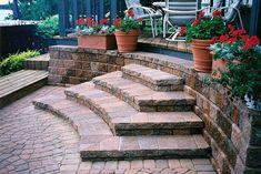Image Detail for - Brick Paver & Stone Steps by Village Landscape Development, Fenton ...