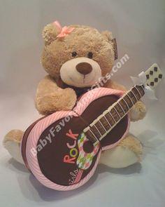 Guitar diaper cake #babyshower gift ideas BabyFavorsAndGifts.com