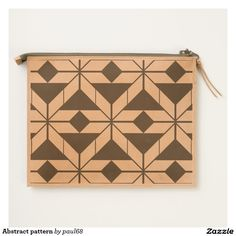 Abstract pattern travel pouch
