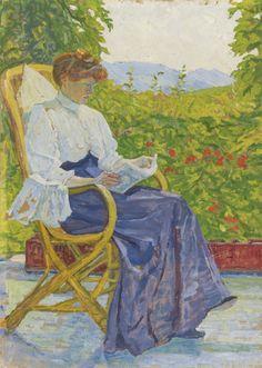 The Shadow (1908). Sigismund Righini (Swiss, 1870-1937). Oil on cardboard.