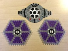 3D TIE Fighter - Star Wars original perler bead design by Guus Oosterbaan
