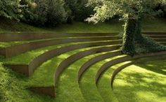 Church hill seating to blend into Labyrinth?