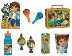 Go Diego Go Party Ideas 5th Birthday, Birthday Parties, Go Diego Go, Canopy Cover, Butcher Paper, Dora The Explorer, Streamers, Party Planning, Showers